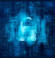 hacked firewall concept broken security system vector image