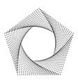 Pentagon Abstract dots Trendy art geometric frame vector image