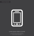 mobile phone premium icon vector image