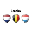 A set of Benelux countries flag icon vector image