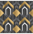 abstract geometric decor stripes black and gold vector image