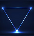 abstract neon triangle with glowing lines vector image vector image