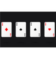 ace gamble playing casino cards vector image