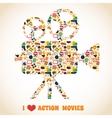 Action movie camera vector image vector image