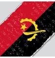 Angolan grunge flag vector image vector image