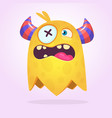 angry cartoon monster design vector image vector image
