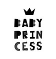 baby princess lettering vector image vector image