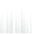 binary coding computer digital data encryption vector image vector image