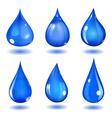 Blue drops vector image