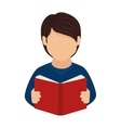 book reading person man education icon vector image