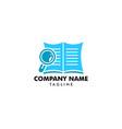 book search logo template design vector image