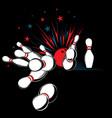 bowling-pins vector image vector image