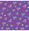 bright purple seamless pattern with hearts vector image vector image