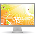 Bright Summer Computer Screen Saver vector image vector image