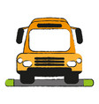 bus draw vector image vector image