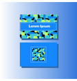 business card template with colorful vector image vector image