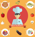 chef restaurant menu vector image