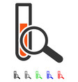 Chemical test flat icon