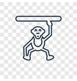 circus monkey concept linear icon isolated on vector image
