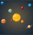 colorful background of the solar system vector image vector image