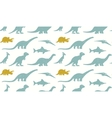 Dinosaurs silhouettes on white background vector image vector image