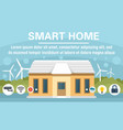eco smart home concept banner flat style vector image