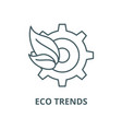 eco trends line icon linear concept vector image