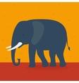 Elephant walking in the field vector image
