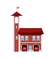Fire station with tower icon cartoon style vector image