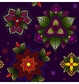 Flowers ornament seamless background with hand vector image vector image