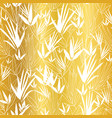 golden on white asian bamboo leaves vector image