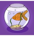 Goldfish in fishbowl pop art style vector image vector image