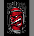 graffiti spray monster vector image