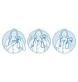 healthcare medicine doctor showing signs concept vector image