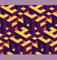 isometric labirynth pattern vector image