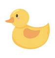 kids toys rubber duck cartoon isolated icon design vector image