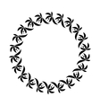 Laurel wreath circle tattoo Black stylized vector image vector image
