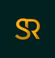 letter sr monogram minimalist logo design vector image vector image