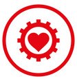 love heart options gear rounded icon vector image vector image