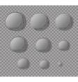 Mercury Planet Mercury isolated Set planet Mercury vector image vector image