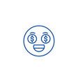 money emoji line icon concept money emoji flat vector image vector image