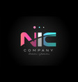 nic n i c three letter logo icon design vector image vector image