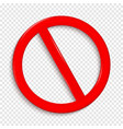 no sign isolated on transparent background vector image vector image