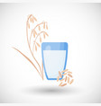 oat milk flat icon vector image vector image