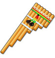 pan flute isolated on white background vector image vector image