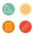 Round Circle Buttons with Icons can be used as vector image vector image