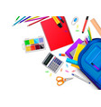 school stationery frame composition vector image vector image