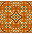 seamless geometric floral pattern vector image vector image