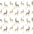 seamless pattern deer vector image