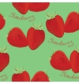 seamless pattern strawberry vector image vector image